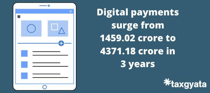 Digital payments surge from 1459.02 crore to 4371.18 crore in 3 years