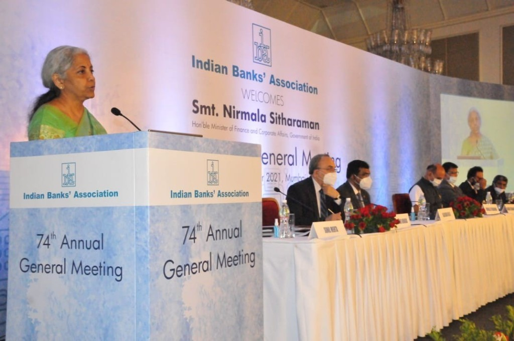 India needs 4 -5 more banks like SBI to meet changing requirements of the Indian Economy: FM